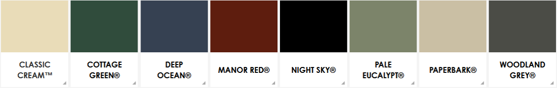 Colourbond Colour Range 3